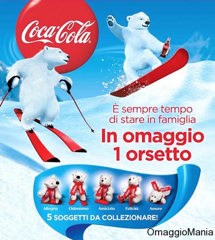 orsetto Coca Cola omaggio