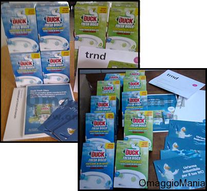prodotti da testare ricevuti Duck Fresh Discs