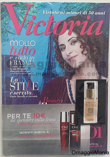 ricevi gratis la rivista Victoria