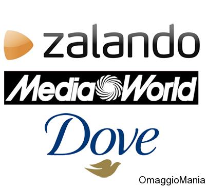 vinci buoni Zalando o buoni MediaWorld con Dove