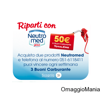 vinci buoni carburante con Neutromed