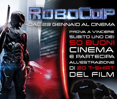 vinci buoni cinema o t-shirt Robocop