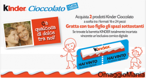 vinci una cornice digitale caratterizzata Kinder Cioccolato