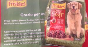 Campioni omaggio cibo per cani Friskies Nutri Soft arrivato