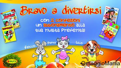 abbonamento trimestrale omaggio a rivista per bambini con Bravo Rauch