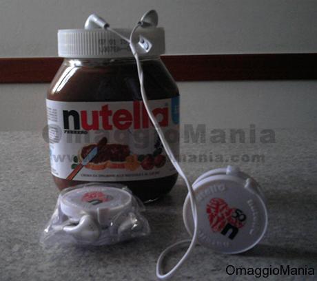 auricolari Nutella omaggio