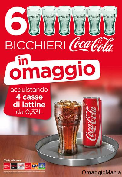 bicchieri Coca-Cola omaggio