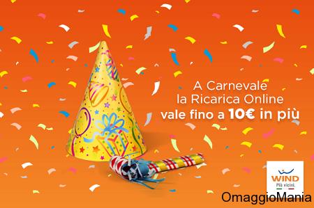 bonus ricarica omaggio da Wind per Carnevale
