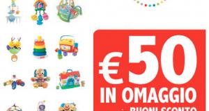 buoni sconto Fisher Price da 50 euro