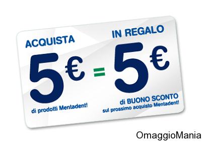 buoni sconto Mentadent - carnet da 5 euro