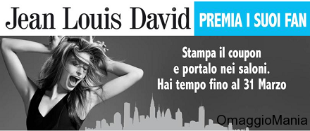 buono sconto Jean Louis David