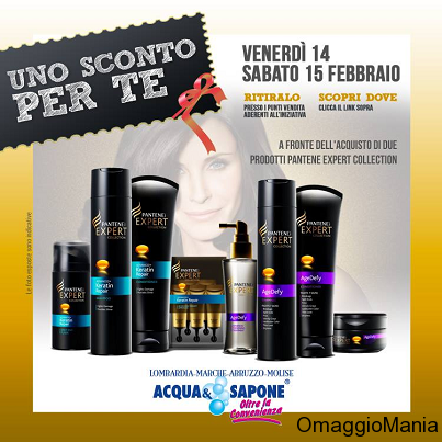 buono sconto Pantene Expert Collection da Acqua&Sapone