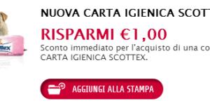 buono sconto carta igienica Scottex da Buonpertutti