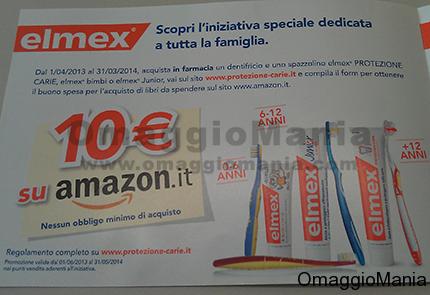 buono spesa Amazon da 10 euro con Elmex