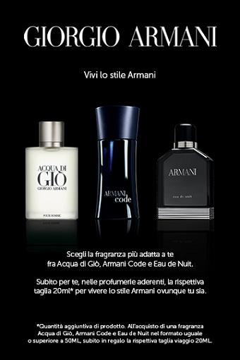 campioncino omaggio profumo Giorgio Armani