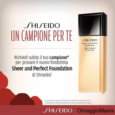campione gratuito fondotinta Shiseido