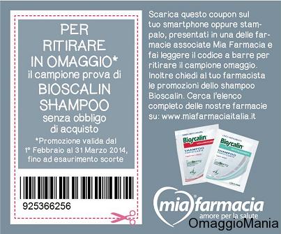 campione omaggio shampoo Bioscalin