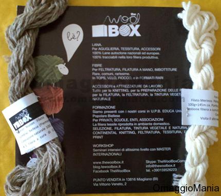 campioni omaggio filati di lana ricevuti