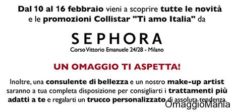 omaggio Sephora Milano Ti Amo Italia