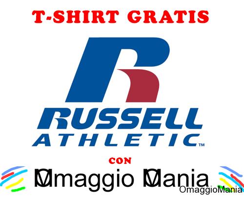 t-shirt gratis Russell Athletic con OmaggioMania (esclusiva)