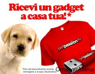 t-shirt o chiavetta USB in omaggio da Petpassion.tv