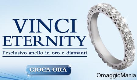 vinci anello in oro e diamanti Eternity
