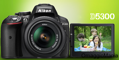 vinci macchina fotografica Nikon D5300 con Cameo