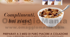 vincita concorso Nestlè Fitness Chocolate