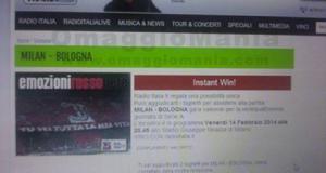 vinti biglietti Milan-Bologna