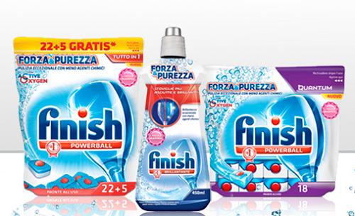 1400 campioni omaggio Finish Forza&Purezza