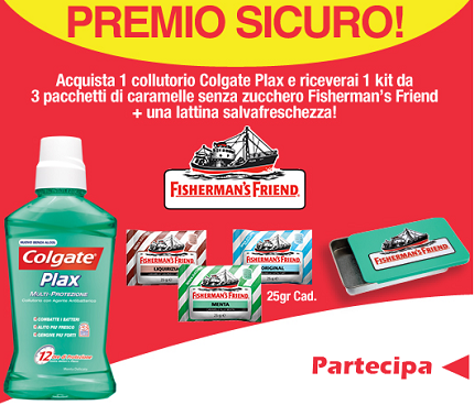 Fisherman's Friend omaggio con Colgate