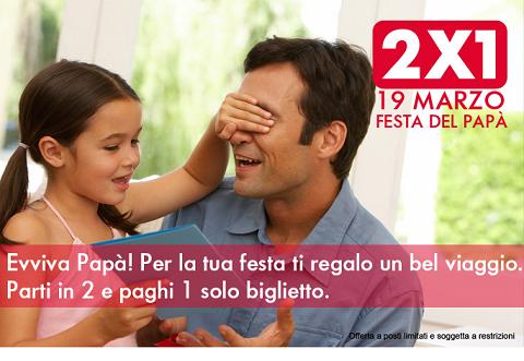 biglietto treno gratis 2x1 per la Festa del Papà 2014