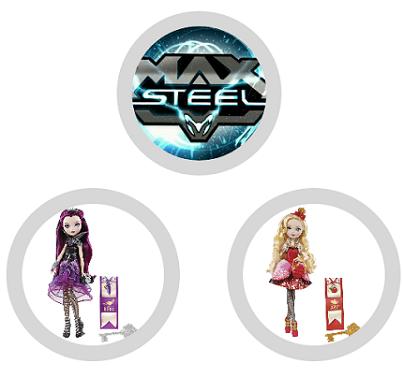 buoni sconto da stampare Mattel su Max Steel e Ever after High