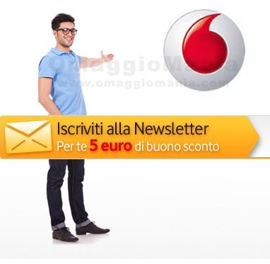 coupon Vodafone con iscrizione newsletter