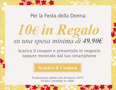 coupon da stampare Yamamay da 10 euro per la Festa della Donna
