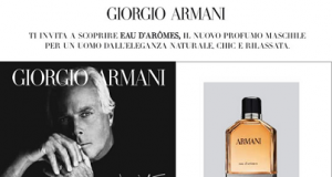 campioni omaggio Giorgio Armani con Esserbella
