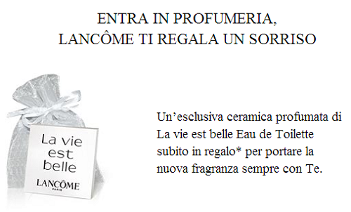 ceramica profumata gratis Lancome