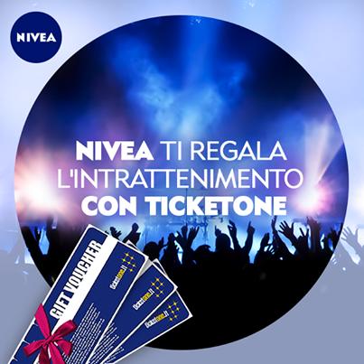 concorso Nivea ti regala l'intrattenimento con TicketOne
