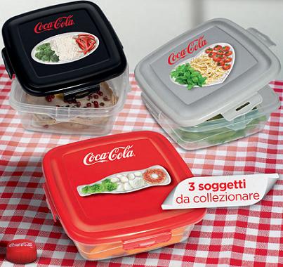 contenitori per alimenti omaggio da Coca-Cola