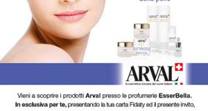 cosmetici Arval omaggio da Esserbella