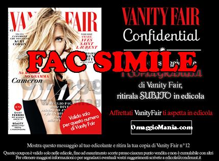 coupon per copia omaggio Vanity Fair