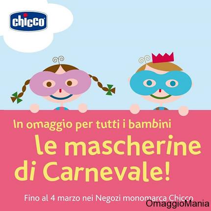 maschera di Carnevale omaggio da Chicco