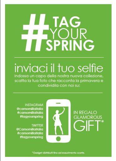 omaggio da Camomilla Italia inviando un selfie