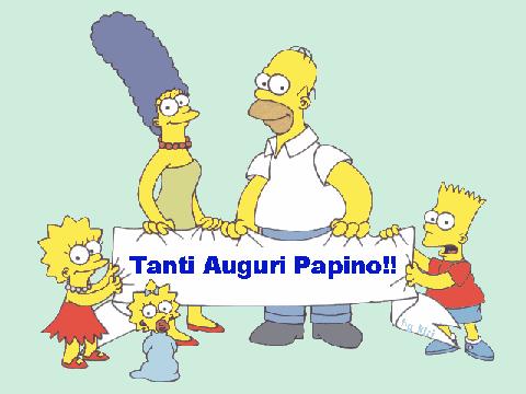 tanti auguri festa del papà Simpsons