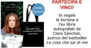 vinci borsina ed ex libris autografati da Clara Sánchez