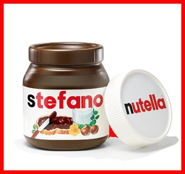 vinci contenitori personalizzati Nutella