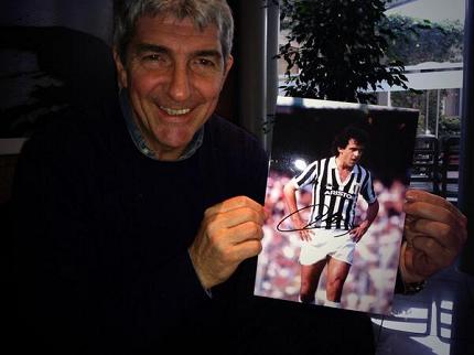vinci foto con autografo di Michel Platini da Paolo Rossi