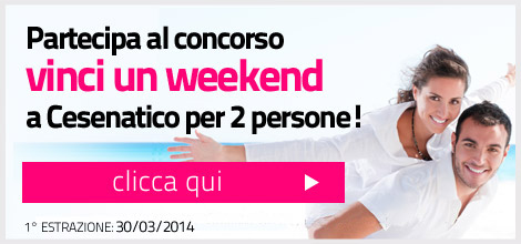 vinci weekend a Cesenatico