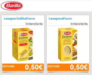 buoni sconto Emiliane Barilla