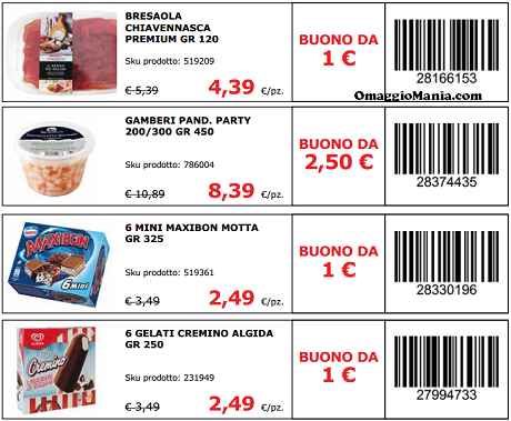 Coupon italia spesa da stampare